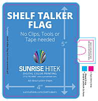 Download 4 x 5 Shelf Talker Flag Template