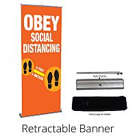 COVID-19 Social Distancing Outdoor Banner
