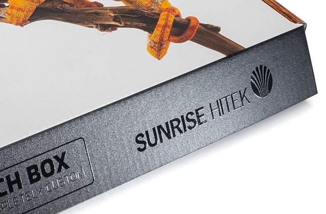 Example of Spot UV on Soft Touch Box