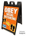 Social Distancing Outdoor Sandwich Board A-Frame Sign