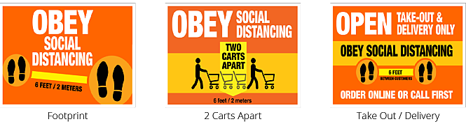 Free Standing Display for Social Distancing during COVID-19