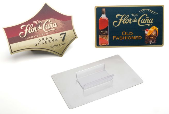 metal shelf talker with custom shape profile or standar rectangle