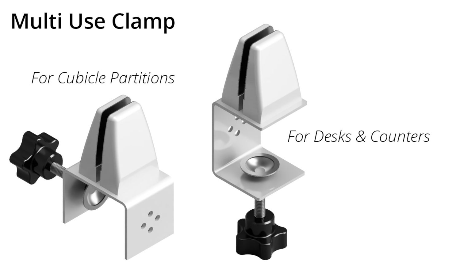 Partition Guard Protective Barrier Clamps