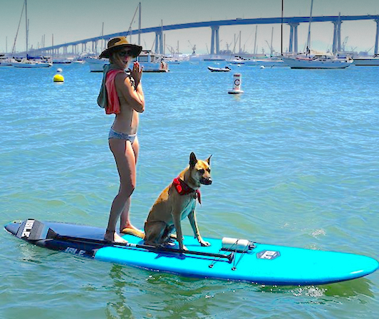 Crystal and Her Dog Paddling