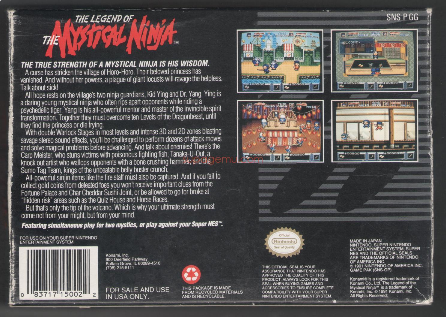 supagemu - The Legend of the Mystical Ninja review