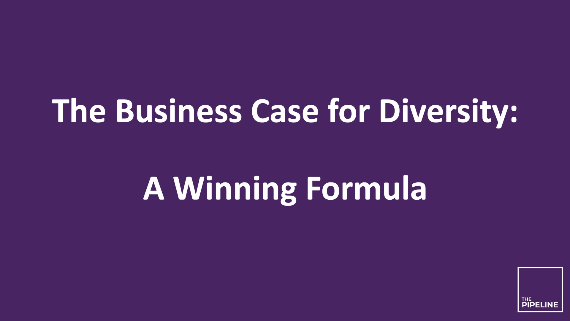 The Business Case For Diversity - Research Library