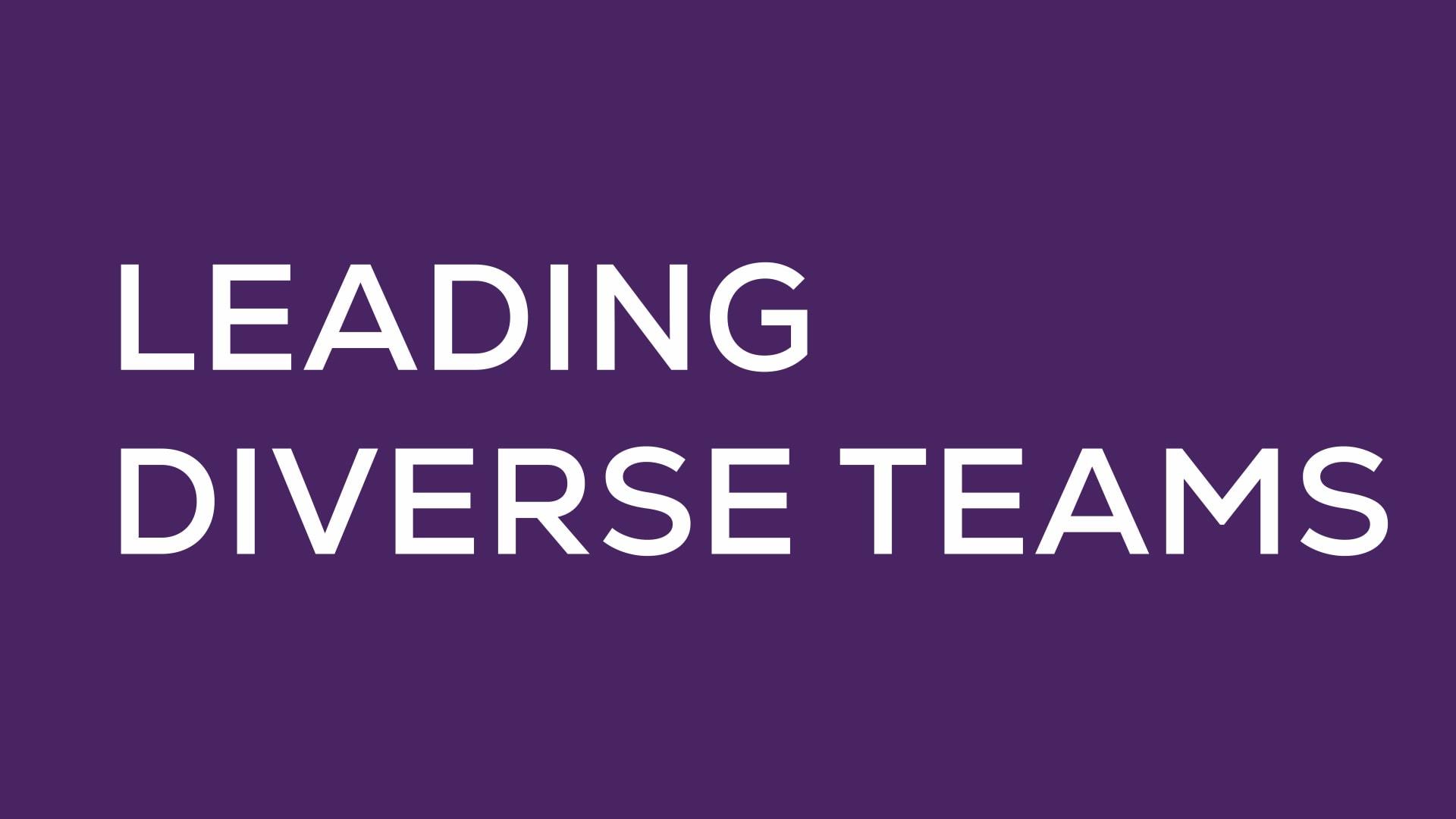 Leading Diverse Teams