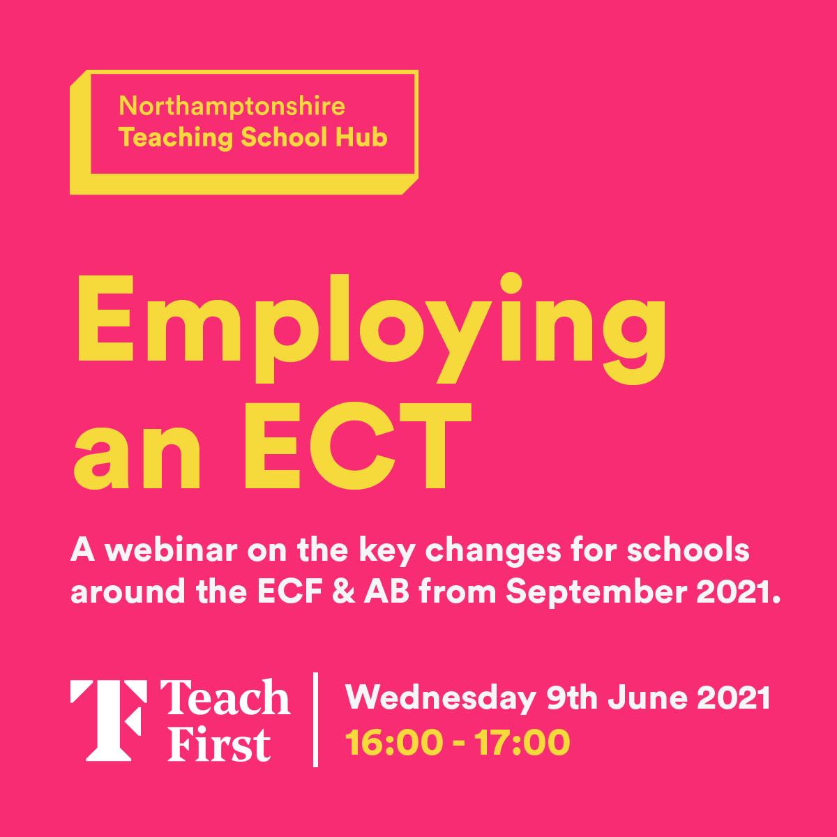 Webinar: Employing an ECT (NQT)