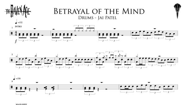 Betrayal of the Mind - Drum Transcription