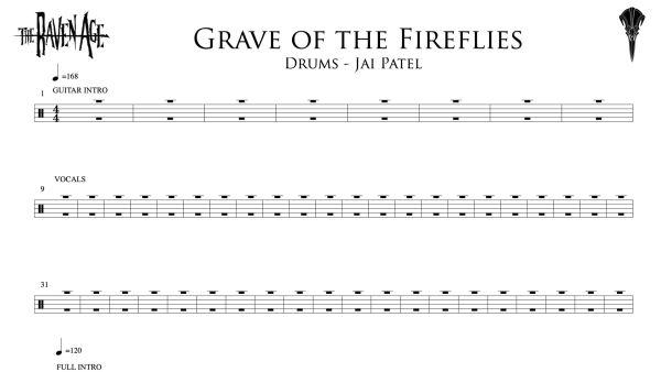 Grave of the Fireflies - Drum Transcription