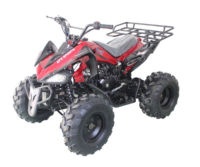 RPS High End JET-9 125cc ATV w/Upgraded Chrome Rims, Single Cylinder, 4 Stroke