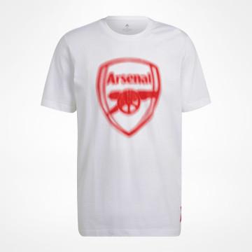 T-shirt Blurred Logo - Vit