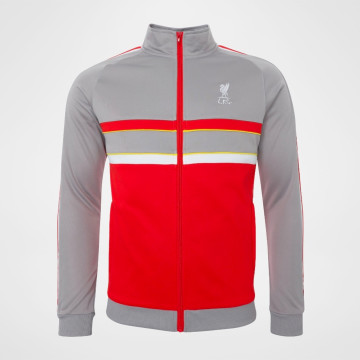 1986 Track Top - Grey/Red