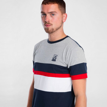 Colour Block Tee - Navy