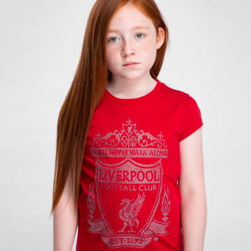 Girls Diamante Crest Tee