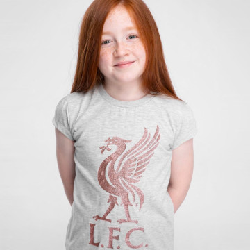 Girls Liverbird Glitter Tee