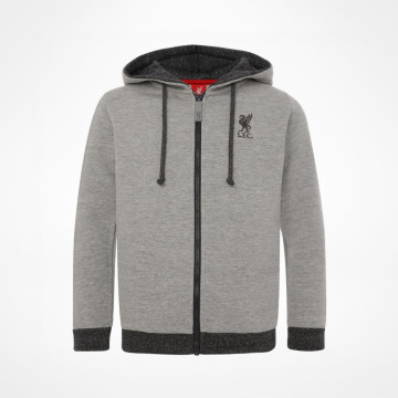 Kids Zip Hood - Grey