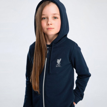 Kids Zip Hood - Navy