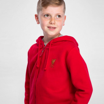 Kids Zip Hood - Red