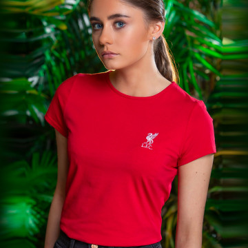 Ladies Liverbird Emb Tee - Red