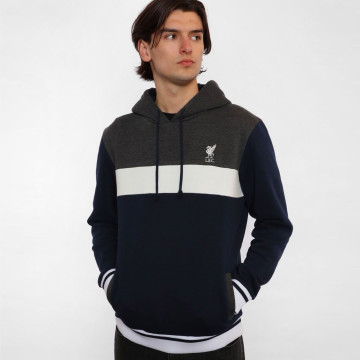 Navy Colour Block Hoody