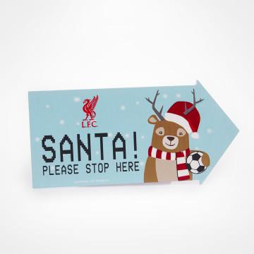 Skylt - Santa please stop here!