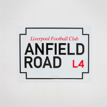 Skylt Anfield Road