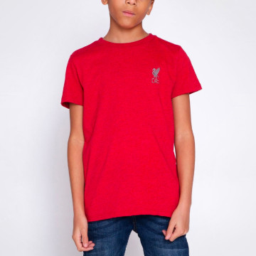 T-shirt Liverbird Emb Röd - Junior