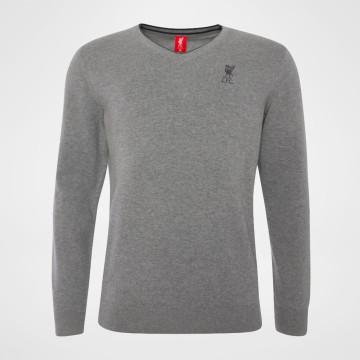 V-Neck Knit - Grey