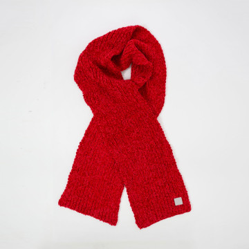Womens Red Chenille Scarf