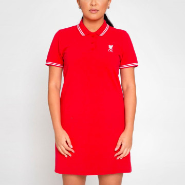 Womens Red Polo Dress
