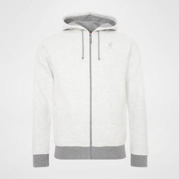 Zip Hoody - Light Grey