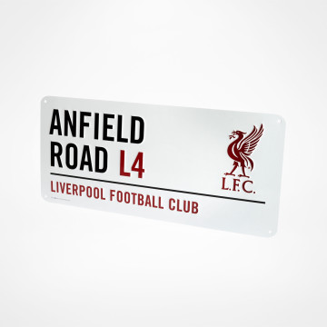 Gatuskylt Anfield Road