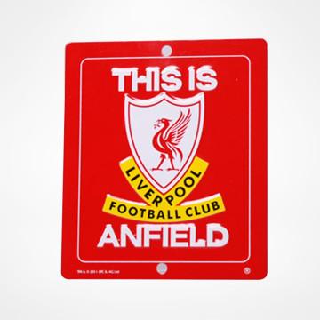 Anfield vindusskilt
