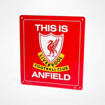 This Is Anfield-skilt