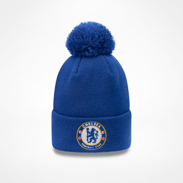 Bobble Knit Hat Blue