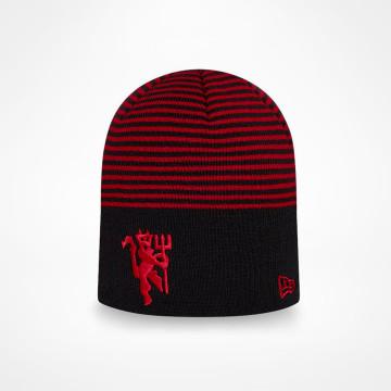 Mössa Striped Skull Knit - Red Devil