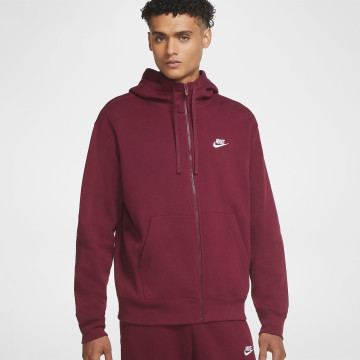 Club Zip Hoodie - Dark Red