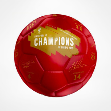 Champions Of Europe Football Signature