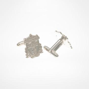 Silver Plated Cufflinks - Crest