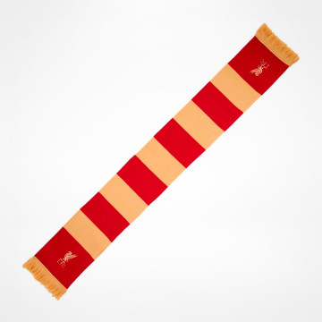 Red & Gold Bar Scarf