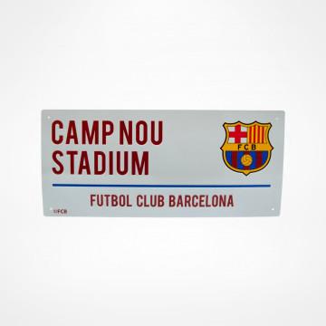 Skylt Camp Nou
