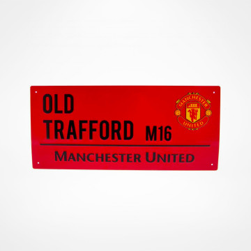 Gatuskylt Old Trafford