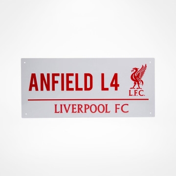Skylt Anfield L4
