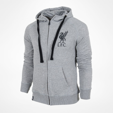 Liverbird Grey Zip Hood