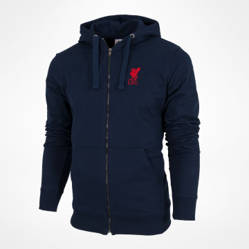 Zip Hood Liverbird Solid - Navy