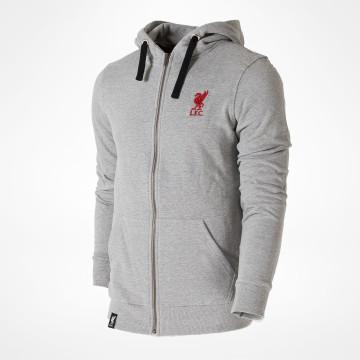 Liverpool FC Zip Hood - Grey