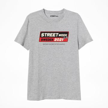 Street Week Logo Tee - Gråmelerad