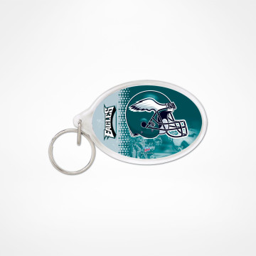 Key Ring Acrylic Oval