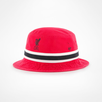 Bucket Hat Red Striped